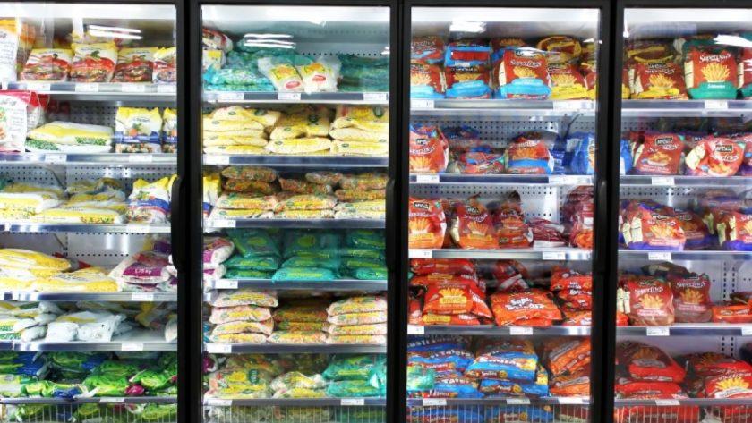 refrigerador de alimentos congelados