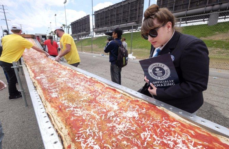 pizza más larga USA